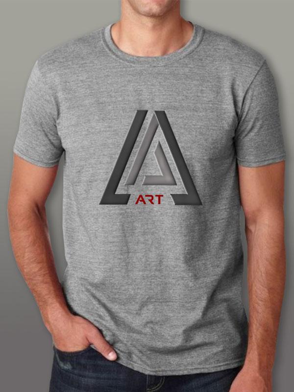 Art Gray Men's T-Shirt