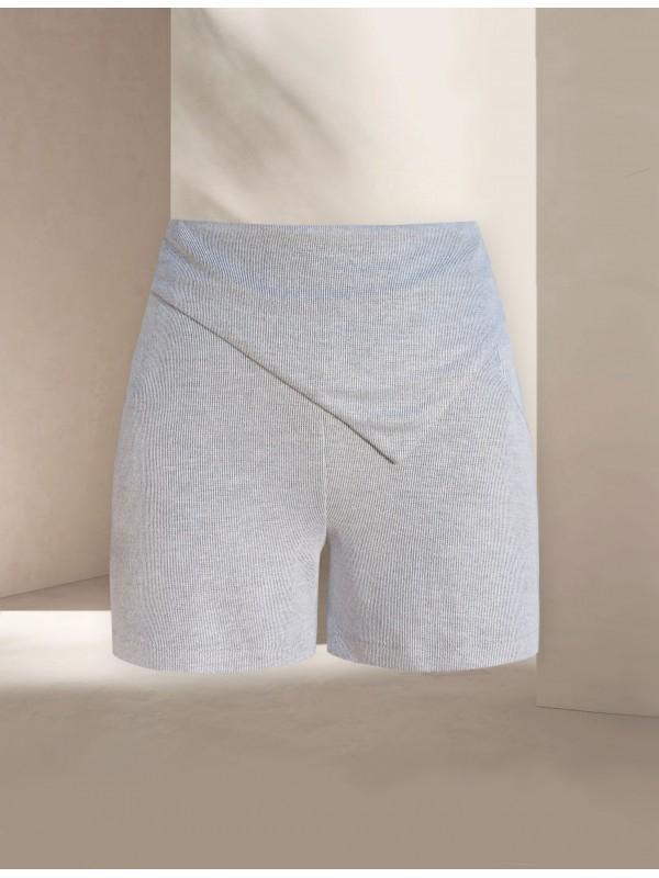 Mardo Gray Knit Shorts