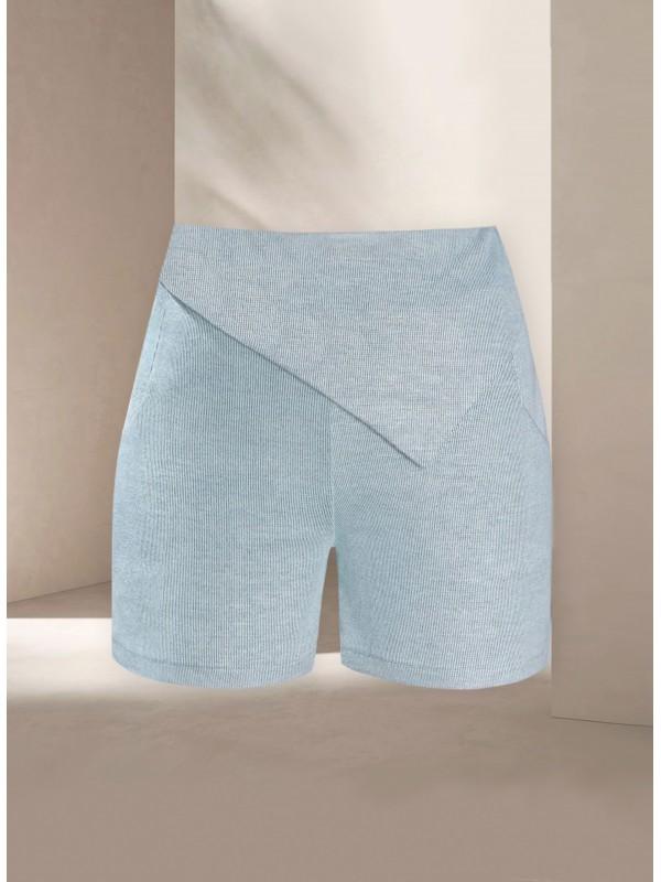 Mardo Blue Knit Shorts