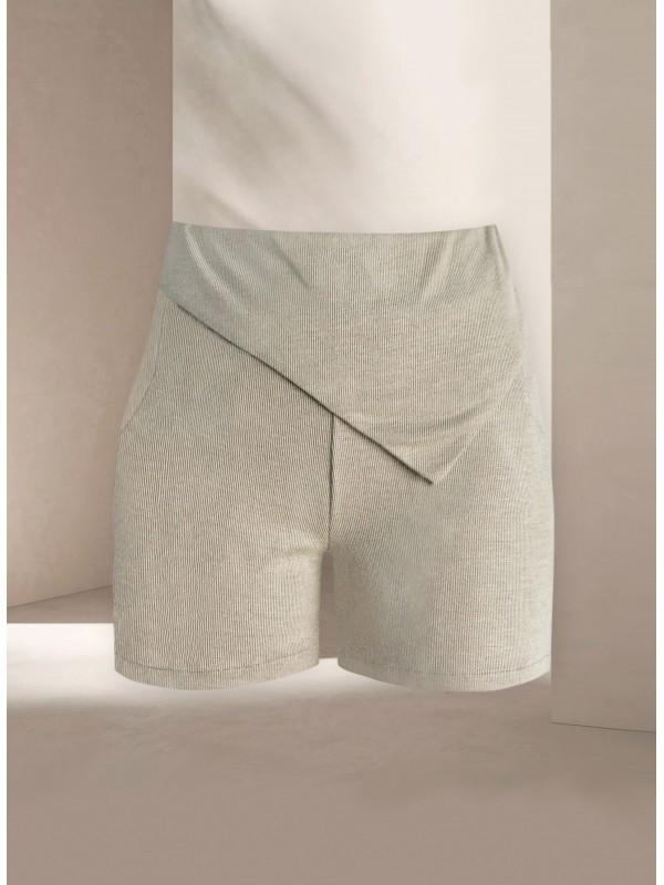Mardo Green Knit Shorts